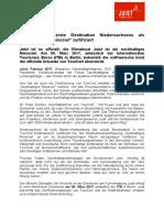 +++ Pressemeldung - Juist als erste Destination Niedersachsens von TourCert als nachhaltiges Reiseziel zertifiziert +++