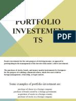 PORTFOLIO Investements