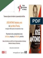 Invitació LLibre José Antonio