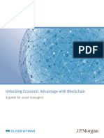 Joint Report by Jp Morgan and Oliver Wyman Unlocking Economic Advantage With Blockchain a Guide for Asset Managers