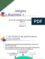 ch3 Les stratégies «Business»