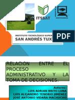 RELACION ENTRE LA ADMINISTRACION Y LA TOMA DE DECISIONES.pptx