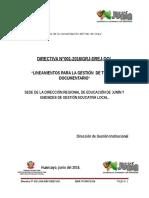 Directiva 01 2016 Lineamientos Para La Gestión de Tramite Documentario en La Dre Junín