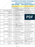 Final BS, MS, PhD Terminal Date Sheet Fall 2015