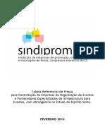 Tabela Sindiprom ES 2014