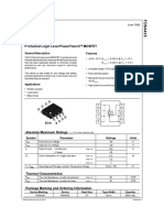 FDS4435 P-Channel Logic Level PowerTrench MOSFET - MicrIC