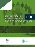 Manual Para La Generacion de Un Plan Comunicaiconal Comunal