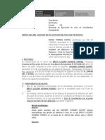 Modelo escrito ejecución de acta de conciliación sobre alimentos