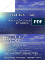 ECOLOGIA GERAL Introducao Aula1