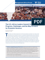 The U.S.-Africa Leaders Summit One Year On
