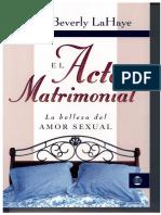 El acto matrimonial, la belleza del amor sexual