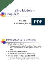 IE3265 Forecasting