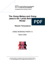 The Orang Melayu and Orang Jawa in the 'Lands Below the Winds' (Indonesian and Malay)