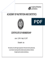 academy of nutrition   dietetics 2017 membershipcertificate