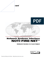 Notifier NOTI FIRE NET Manual Version v 4.0 Higher