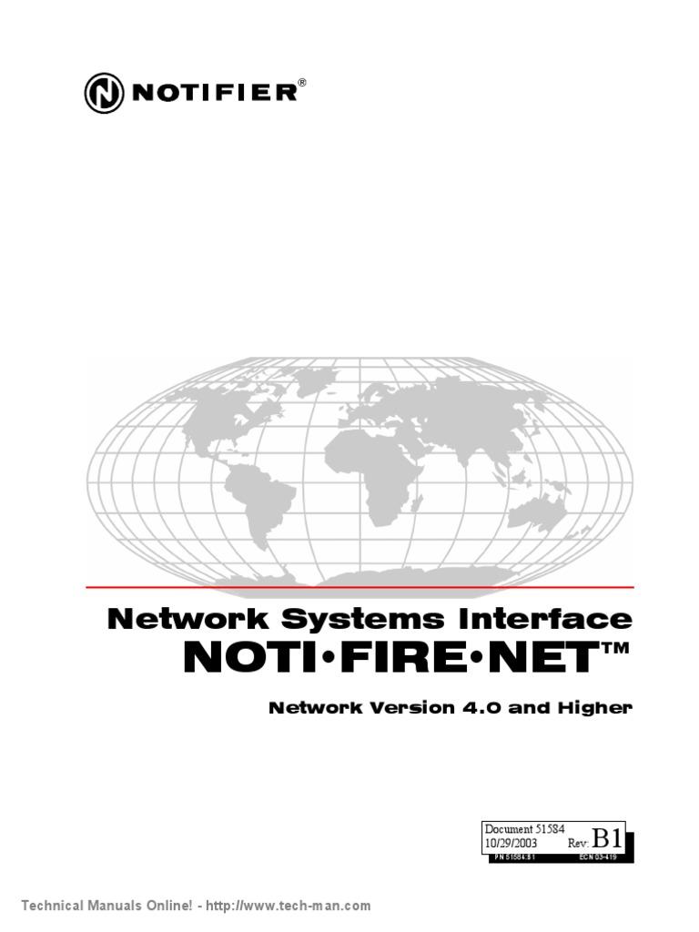 Notifier NOTI FIRE NET Manual Version v 4 0 Higher | Network