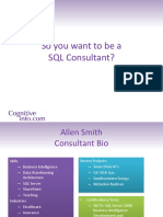 Wanna Be a SQL Consultant