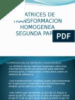 Presentacion Matrices de Transformacion Homogenea