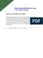 Historia Economica de Japon