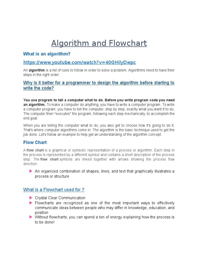 Algorithm and flowchart grade 6 term3 biocorpaavc Gallery