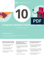 10 Computer Assisted Translation Tools Lesson