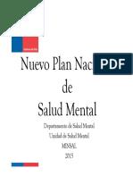 Nuevo Plan Nacional Salud Mental 2015
