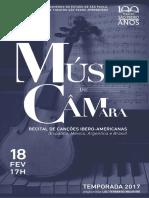 Música de Câmara   Fevereiro 2017   Programa de Sala