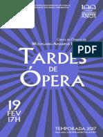 Tardes de Ópera   Fevereiro 2017   Programa de Sala
