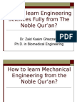 Learning Mechanical Engineering from The Qur'an