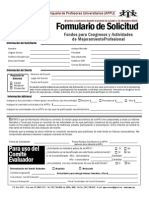 FORMULARIO SOLICITUD - 2DA CONVOCATORIA VIAJES CONGRESOS