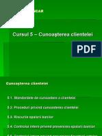 Curs 5 - Cunoasterea Clientelei