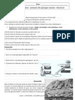 Roches Sédimentaires Mémoire Des Paysages Anciens – 5ème – Exercices Corrigés Remédiation – Géologie – SVT