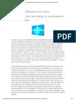 Acceder a Windows 8 Como Administrador Sin Saber La Contraseña _ Tecno Game