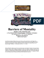 Kingdoms of Kalamar - Living Kalamar - Barriers of Mentality