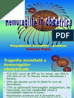 Hemoragiile in Obstetrica - Refac