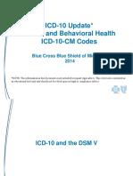 Icd10 Update Mental health