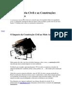 A Engenharia Civil e as Construções Sustentáveis