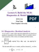 8. Build the MLR Model-Diagnostics & Model Selection