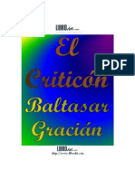 Baltasar Gracián  El Criticón