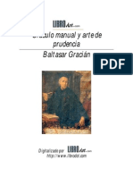 Baltasar Gracián  Oráculo manual y arte de prudencia