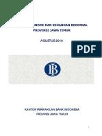 Kajian Ekonomi Keuangan Regional Jawa Timur Agustus 2016