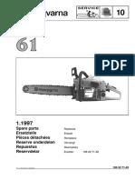 Husqvarna 61 (1997) Parts List