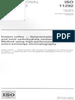 Determinacion de Humedad ISO 3726