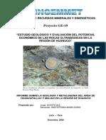 Estudio Geológico y Evaluación Del Potencial Económico Región Huánuco