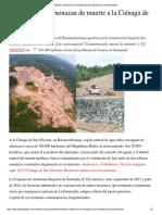Realizan Inspección en Ciénaga de San Silvestre Por Contaminación