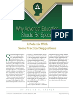 Why Adventist Education Should Be Special (1)