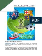 Prediksi PSG vs Barcelona 15 Februari 2017