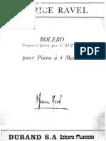 Bolero - Ravel - 1 Piano 4 Mani - 4 Hands - 4 Mains