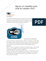 Tutorial Repetidor Wireless