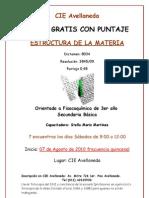 Afiche Curso Estructura de La Materia Avellaneda